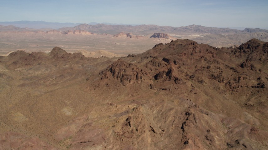 4K stock footage aerial video of rugged, barren mountains in the Nevada Desert Aerial Stock Footage | FG0001_000283