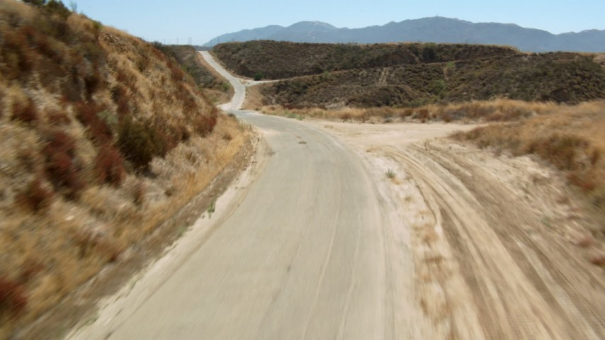 1080 stock footage aerial video tilt and fly over a country road in the hills, Santa Clarita Valley, California Aerial Stock Footage   HDA07_22