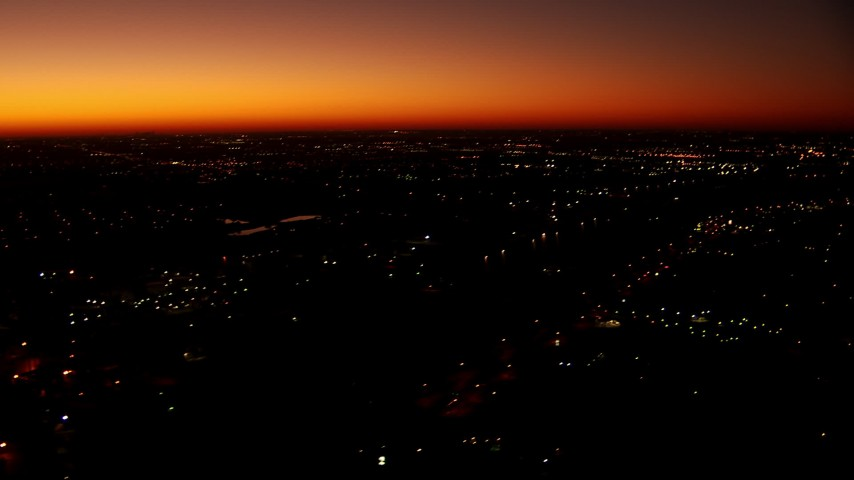 1080 stock footage aerial video of a reverse view of neighborhoods at sunrise in Fort Worth, Texas Aerial Stock Footage   HDA12_018