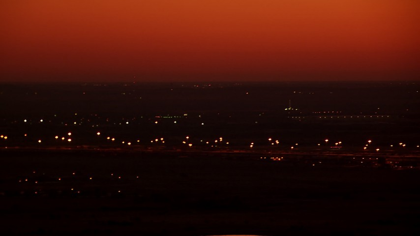 1080 stock footage aerial video of a train yard at sunrise in Fort Worth, Texas Aerial Stock Footage   HDA12_019