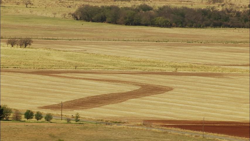 1080 stock footage aerial video of Oklahoma farmland Aerial Stock Footage   HDA12_111