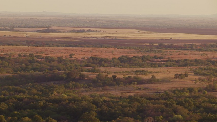 1080 stock footage aerial video of farmland and rural countryside at sunset in Oklahoma Aerial Stock Footage | HDA12_139