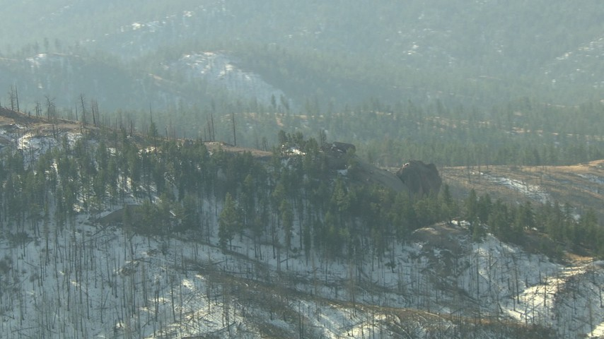 HD stock footage aerial video of a snowy ridge in the Rocky Mountains, Colorado Aerial Stock Footage | HDA13_290
