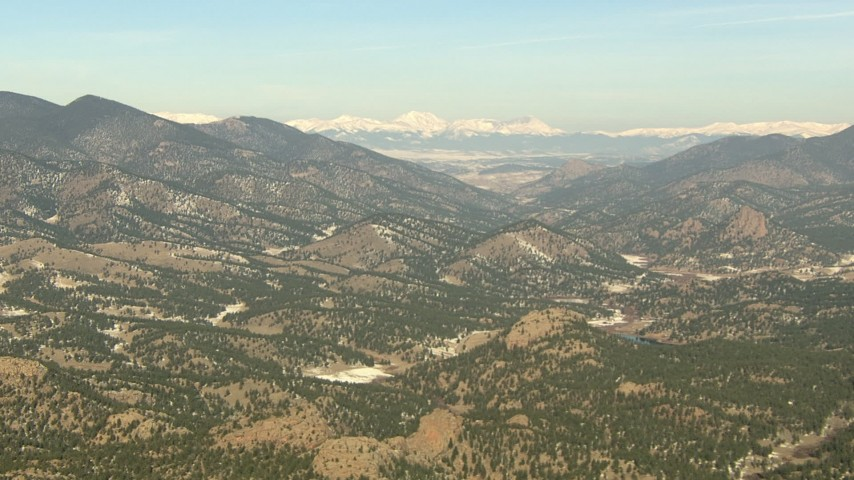 HD stock footage aerial video of mountains and hills in the Rocky Mountains, Colorado Aerial Stock Footage   HDA13_301