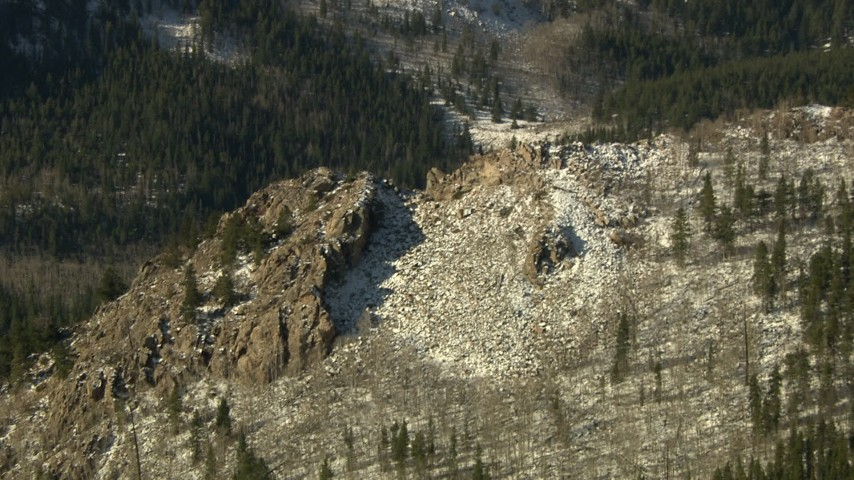 HD stock footage aerial video tilt from a ridge to reveal slopes in the Rocky Mountains, Colorado Aerial Stock Footage   HDA13_326