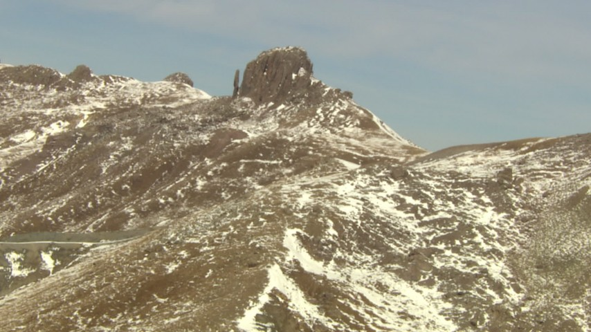 HD stock footage aerial video of a rocky formation on a ridge in the Rocky Mountains, Colorado Aerial Stock Footage | HDA13_375