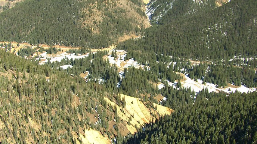 HD stock footage aerial video fly over forest and mountains in the Rocky Mountains, Colorado Aerial Stock Footage | HDA13_389