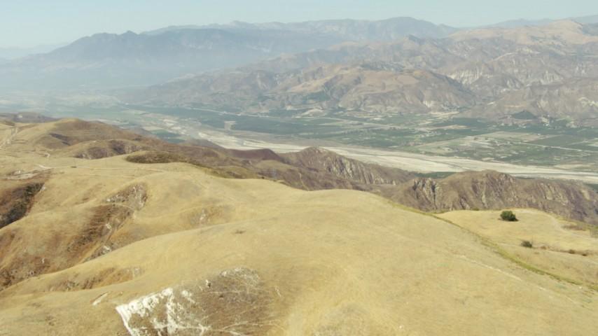 1080 stock footage aerial video approach farmland in Piru, California Aerial Stock Footage | TS01_014