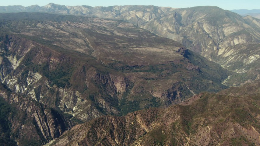 1080 stock footage aerial video of sloped mountain in Los Padres National Forest, California Aerial Stock Footage | TS01_019