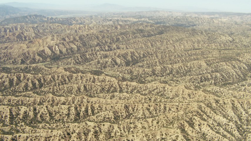 1080 stock footage aerial video of ridged mountains, Los Padres National Forest, California Aerial Stock Footage   TS01_033