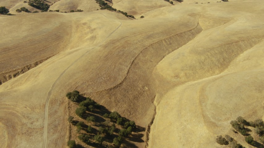 1080 stock footage aerial video of brown hills in Paso Robles, California Aerial Stock Footage | TS01_090