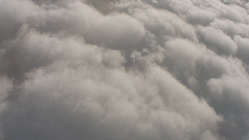 4K stock footage aerial video of reverse view of clouds over Southern California Aerial Stock Footage | WA001_003