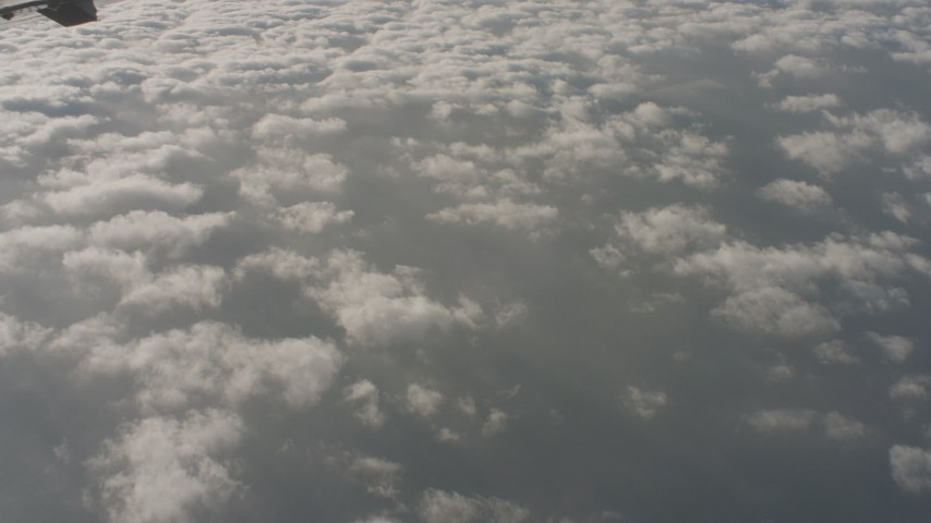 4K stock footage aerial video reverse view of the Pacific Ocean and wispy clouds in Southern California Aerial Stock Footage | WA001_010