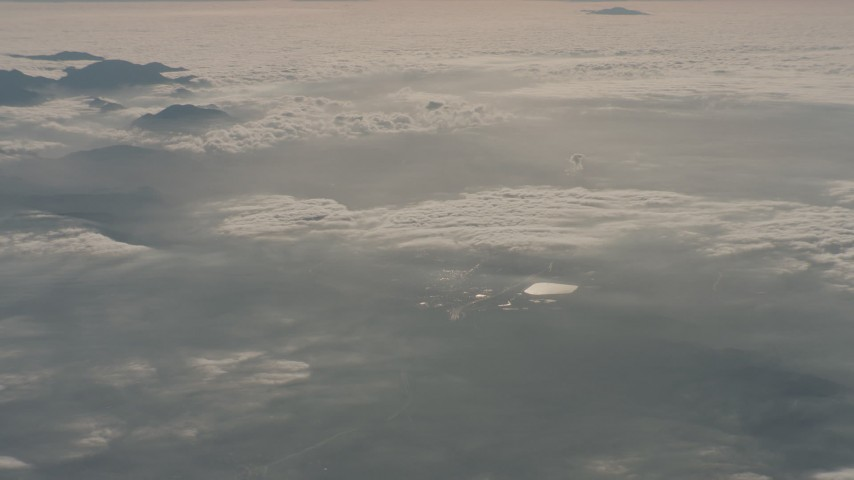 4K stock footage aerial video of cloud cover over the San Fernando Valley, California Aerial Stock Footage | WA001_022