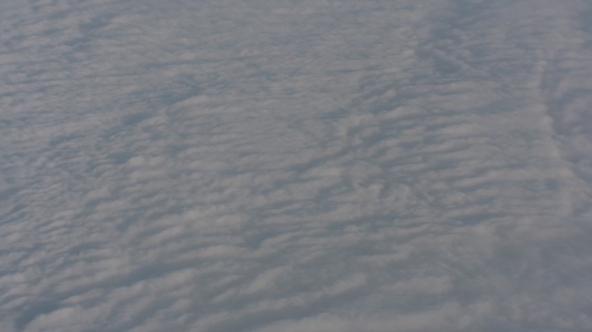 Fly over cloud cover in Central Valley, California Aerial Stock Footage | WA002_031