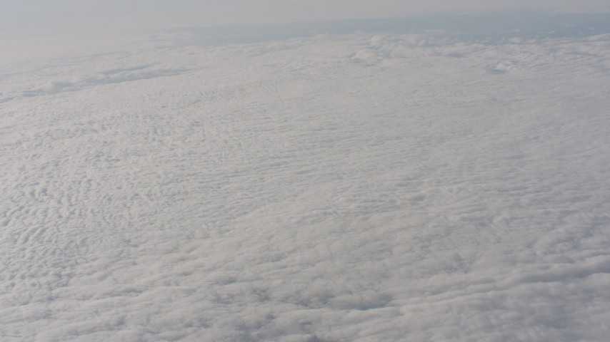 A reverse view of clouds over Northern California Aerial Stock Footage | WA002_071