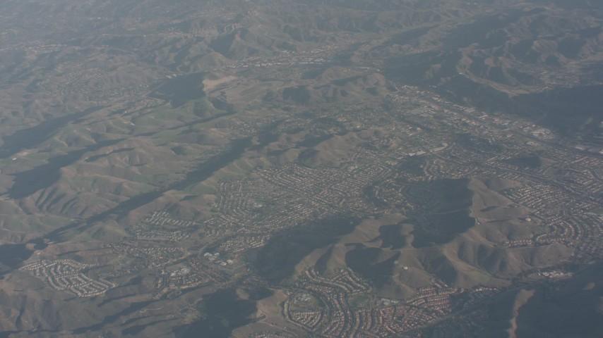 4K stock footage aerial video of suburban neighborhoods in Agoura Hills, California Aerial Stock Footage | WA003_008