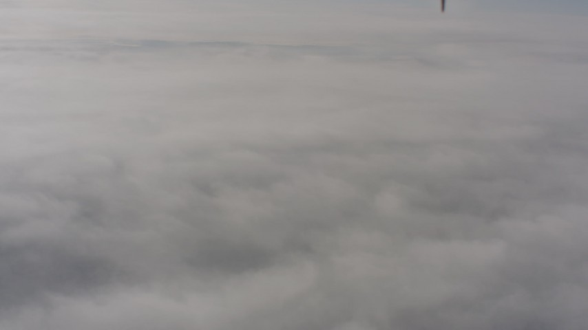A dense cover of clouds over Lassen County, California Aerial Stock Footage | WA004_006