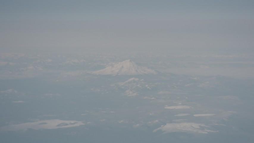 Snowy Mount Shasta, Modoc County, California Aerial Stock Footage | WA004_011