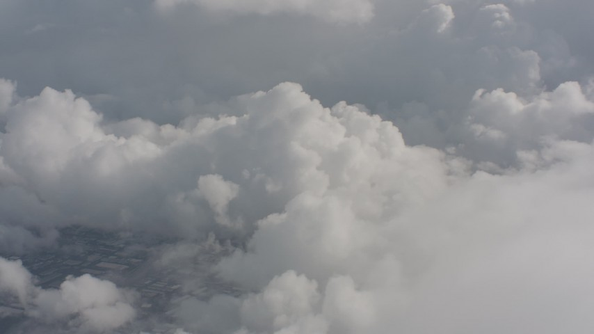 Flyby clouds over Washington Aerial Stock Footage | WA004_054