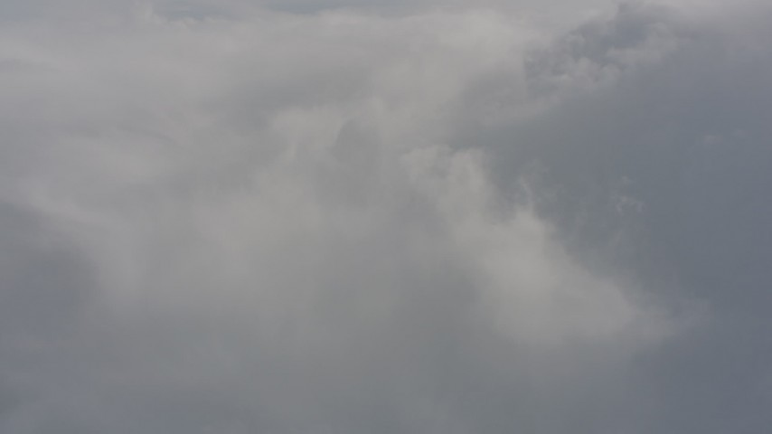 Fly toward a dense cloud layer over Washington Aerial Stock Footage | WA004_068