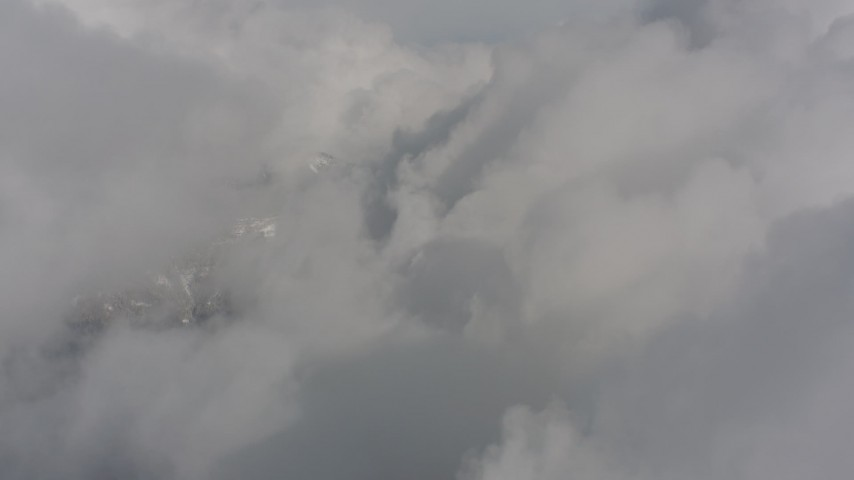 4K stock footage aerial video of a view of dense clouds over Washington Aerial Stock Footage | WA004_079