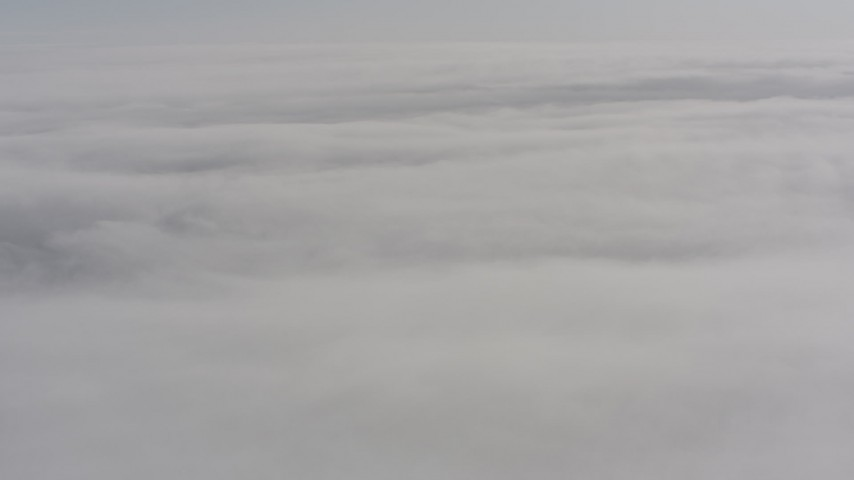 A wide expanse of cloud cover over Oregon Aerial Stock Footage | WA004_100