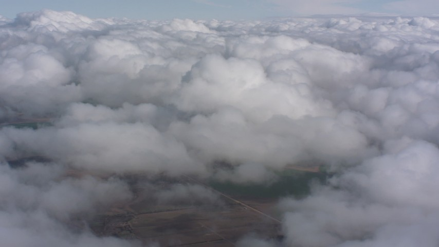 4K stock footage aerial video flyby a wide expanse of clouds over Southern California Aerial Stock Footage   WA005_020