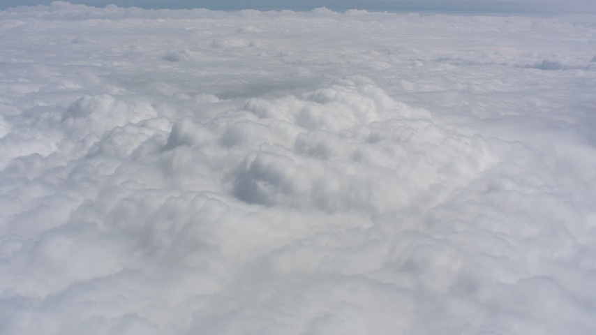 Cloud cover over Kansas Aerial Stock Footage WA005_039 | Axiom Images