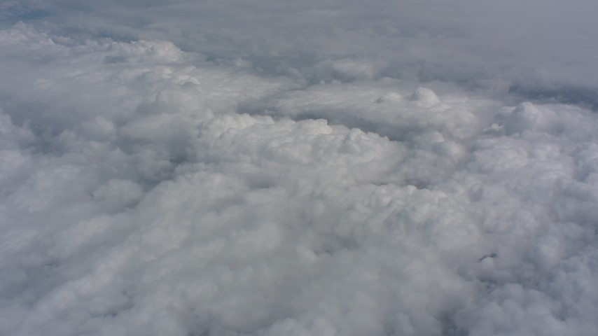 Flyby white clouds over Kansas Aerial Stock Footage WA005_047 | Axiom Images