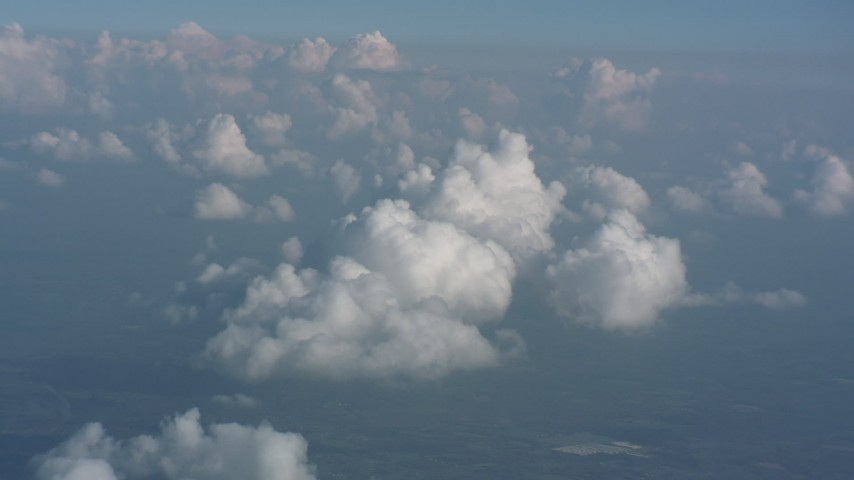 Flying by cloud formations over Virginia Aerial Stock Footage | WA006_003