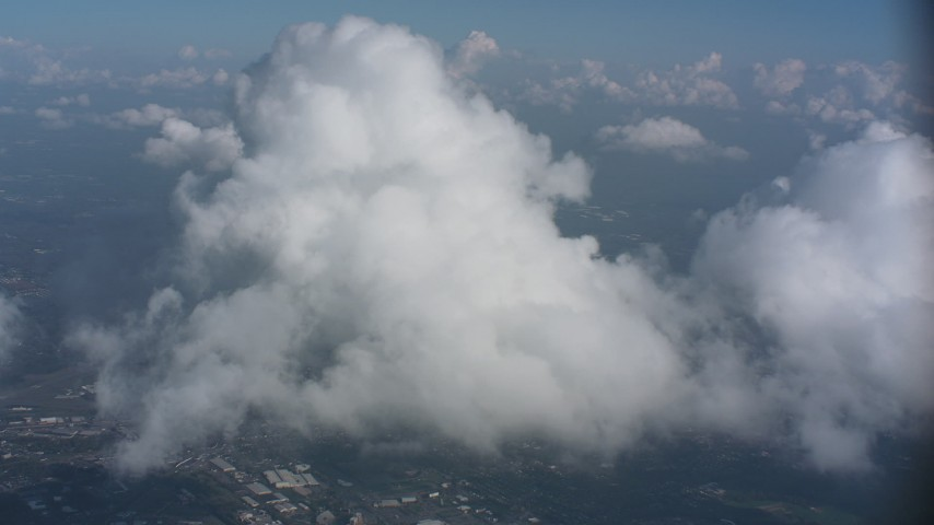 A cloud formation over Virginia Aerial Stock Footage | WA006_006