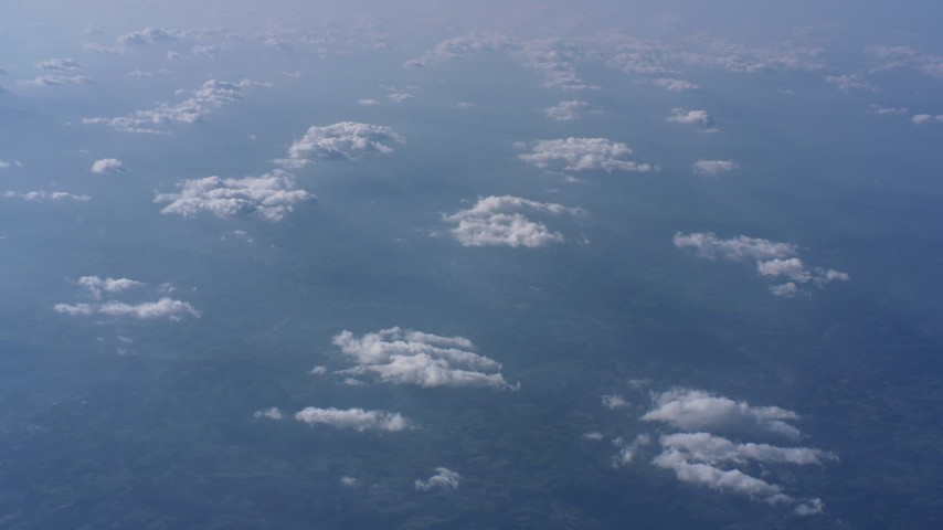 A view of clouds high above North Carolina Aerial Stock Footage WA007_009 | Axiom Images