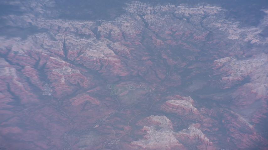 Desert canyons and mesas near Phoenix, Arizona Aerial Stock Footage WA007_021   Axiom Images