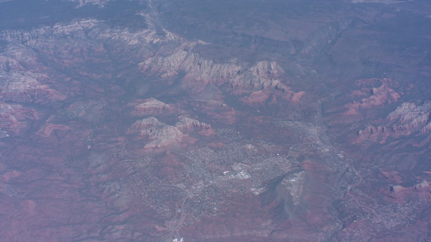Canyons and mesas on the outskirts of Phoenix, Arizona Aerial Stock Footage WA007_022 | Axiom Images