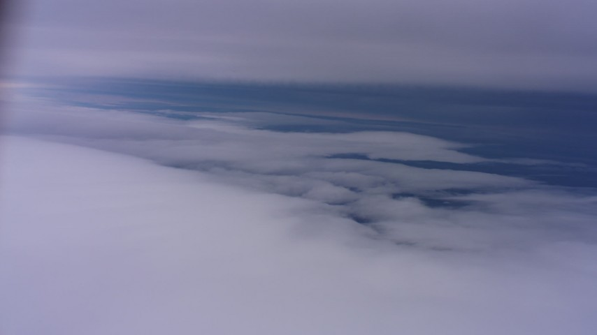 4K stock footage aerial video of flying between cloud layers above Northern California Aerial Stock Footage | WAAF07_C004_0119NV