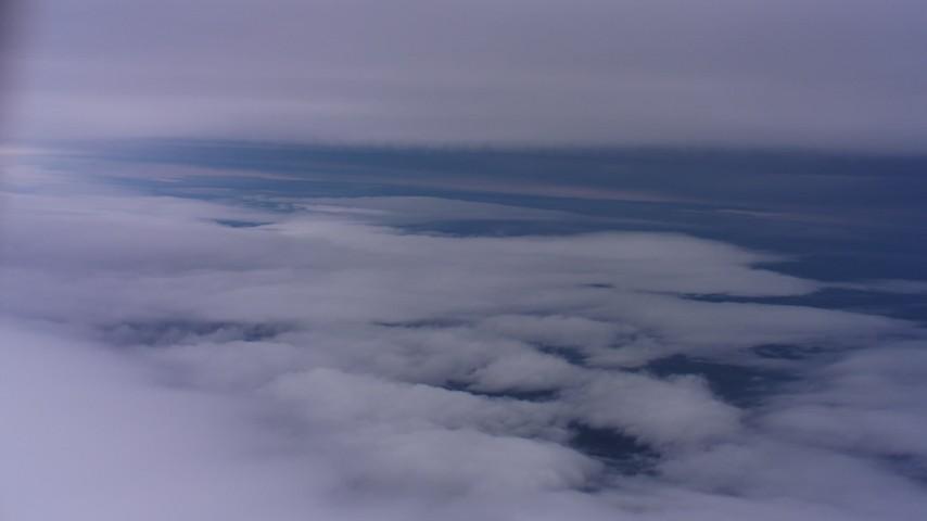 4K aerial video of flying between cloud layers in Northern California Aerial Stock Footage | WAAF07_C005_0119SQ