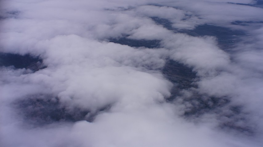 4K stock footage aerial video of cloud formations over Northern California Aerial Stock Footage | WAAF07_C006_0119N0