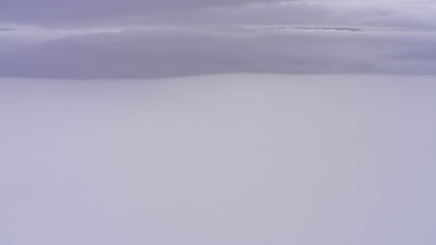 4K stock footage aerial video of dense cloud cover in Northern California Aerial Stock Footage | WAAF07_C008_0119HV