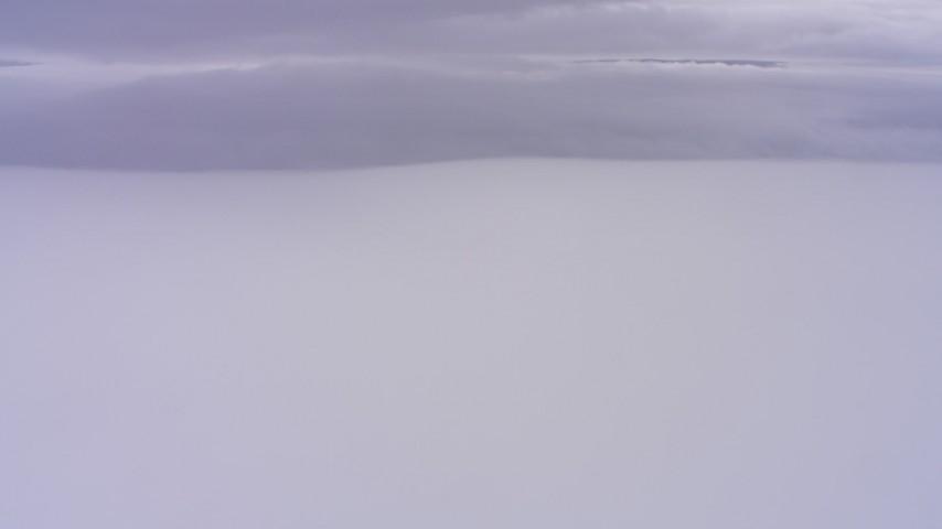 4K aerial video of dense cloud cover in Northern California Aerial Stock Footage | WAAF07_C008_0119HV