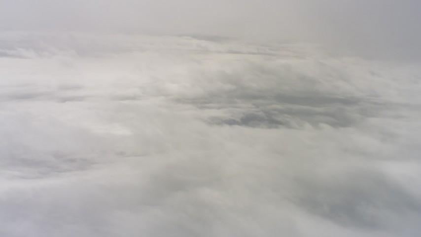 4K aerial stock footage video of dense cloud cover over Northern California Aerial Stock Footage | WAAF07_C067_011968