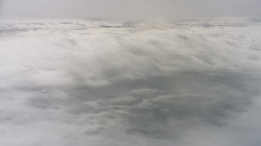 4K stock footage aerial video of flying over a layer of clouds above Northern California Aerial Stock Footage | WAAF07_C069_0119TV