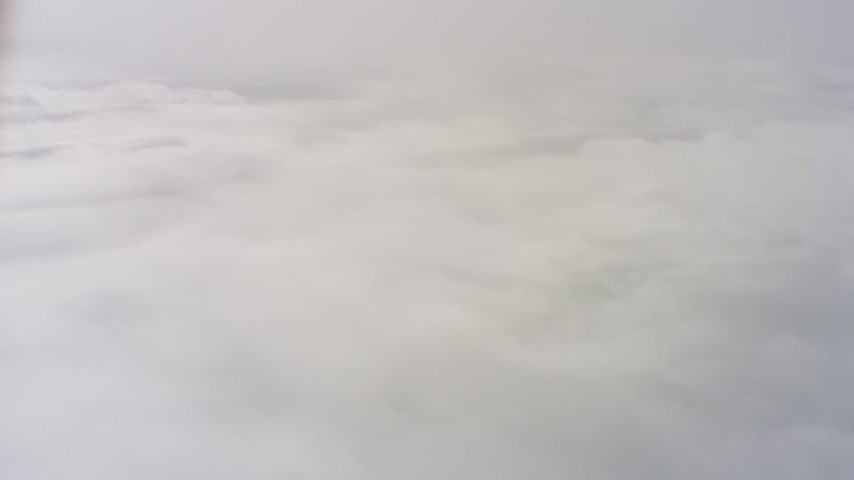 4K stock footage aerial video of dense clouds over Northern California Aerial Stock Footage | WAAF07_C071_0119GV