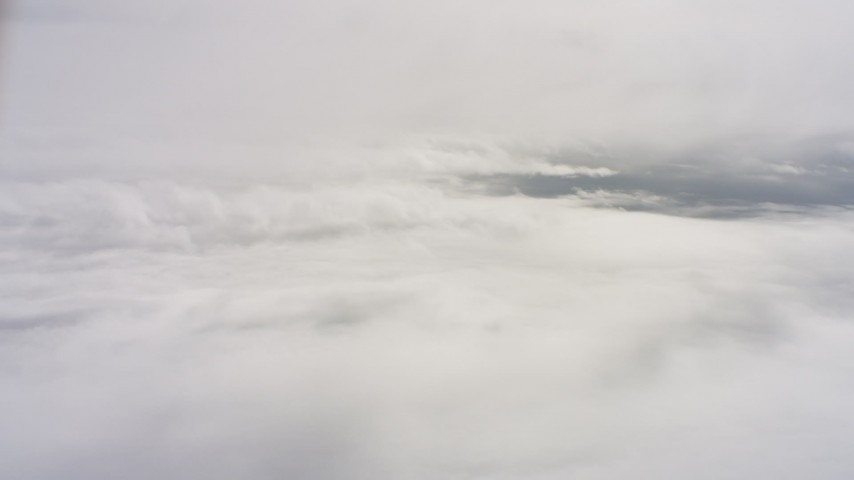 4K stock footage aerial video of layers of cloud cover above Northern California Aerial Stock Footage | WAAF07_C073_0119US