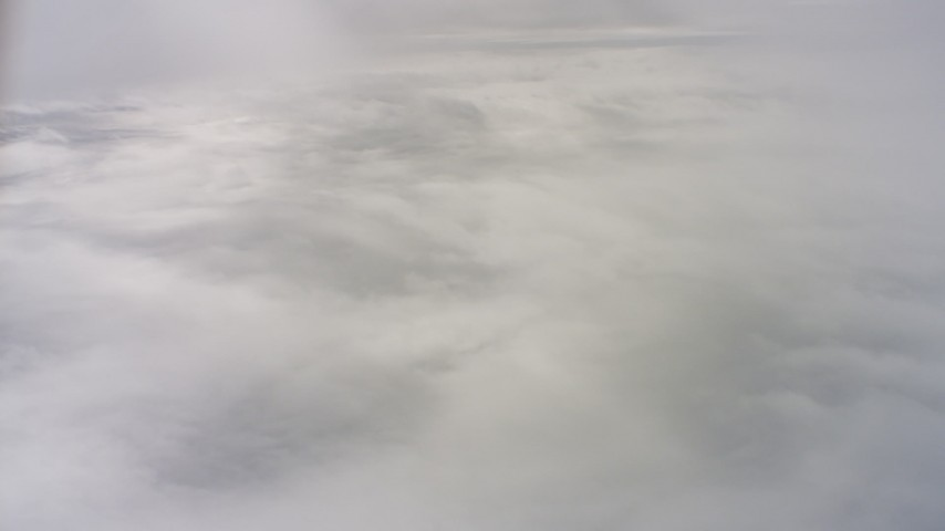 4K stock footage aerial video of a layer of clouds over Northern California Aerial Stock Footage | WAAF07_C074_01192B