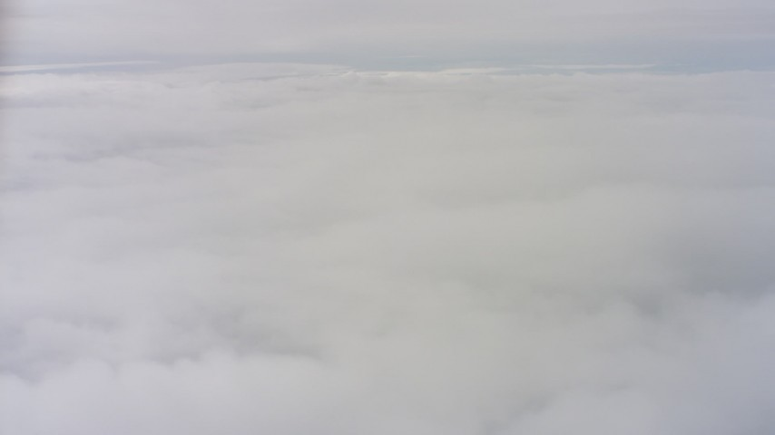 4K stock footage aerial video of a dense layer of clouds over Northern California Aerial Stock Footage | WAAF07_C079_0119HX