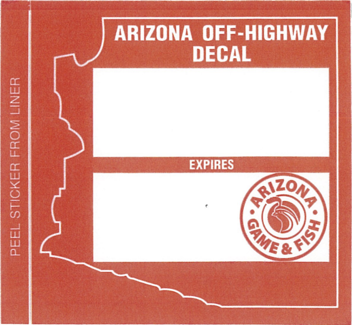 nonresident OHV decal