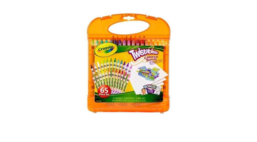 Maleta 65 piezas lápices de colores cera - Crayola » Babytuto
