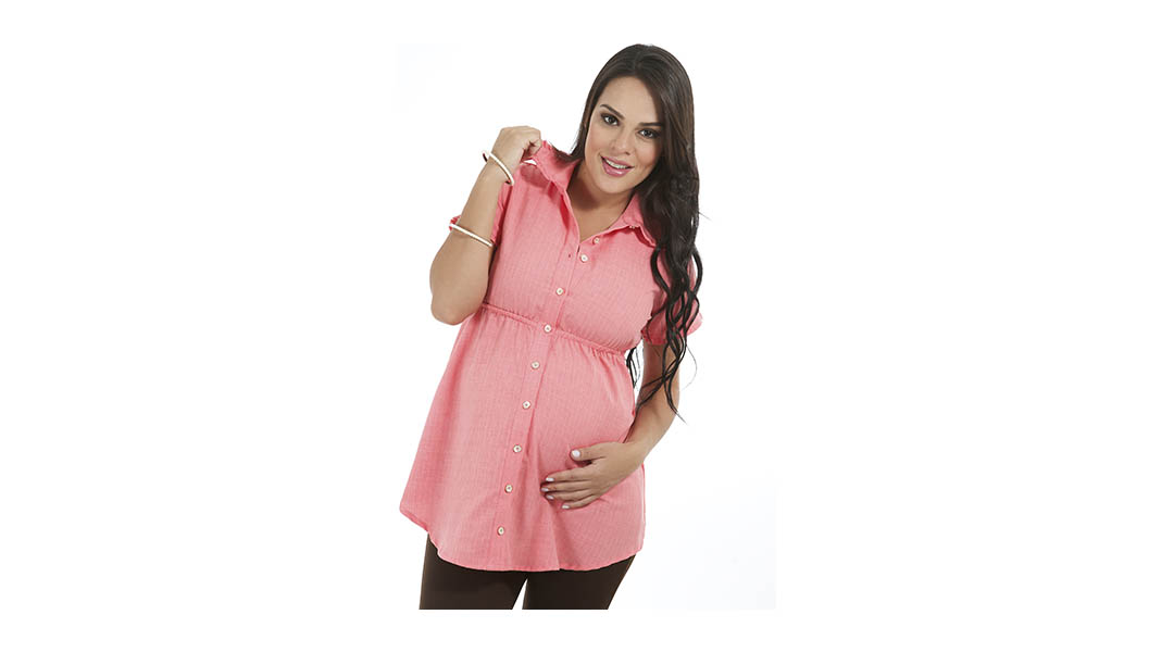 869a4796a Blusa maternal con cuello - Clio » Babytuto