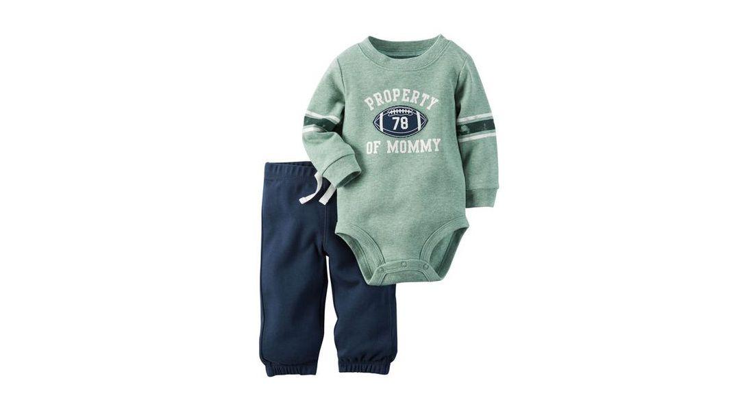 51b273824d1ee Set 2 piezas pantalón y body verde futbol americano - Carter s » Babytuto